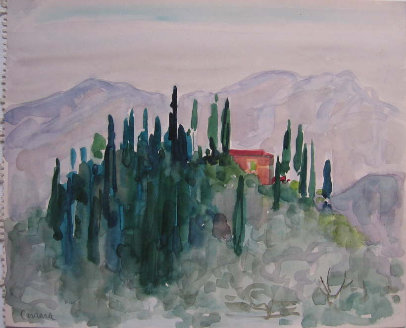Carrara, Aquarell
